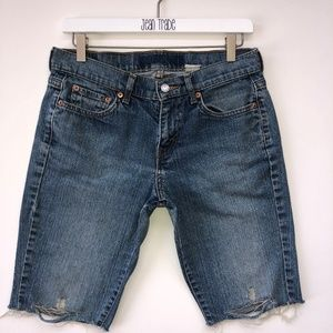 Levi's Distressed Jeans Shorts